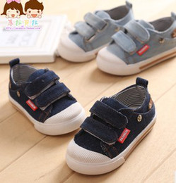 Wholesale 2014 Spring Children Boys Fashion Denim Vecro Shoes Baby Boy Girl Leisure China Shoes Baby First Walker Shoes B3052