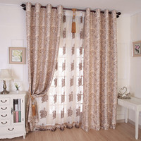 Wholesale New arrival window luxury jacquard blackout fabric fashion finished products curtain