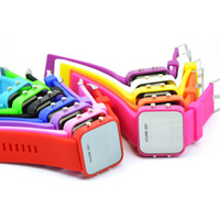 Wholesale 200pcs Color Mirror LED Watch for Kids Women Men Lovers Silicone Strap Digital Sports Watches New LED002
