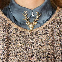 Wholesale maxi Horned deer pin waxwing of milu deer fawn Brooch