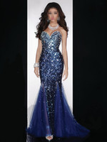 Wholesale 2014 Hot Sale Pageant Dresses Stunning Sweetheart Blink Sequined and Rhinestones Mermaid Prom Evening Dresses