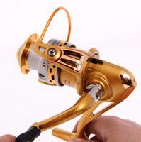Saltwater As Shown In The Picture 2000 Series Hot Sale Top Quality Gold Spinning Fishing Pole Reel AF2000 Metal Spinner Reels 12pcs lot Wheel 6 Bearing Fishing Tackle Accessories