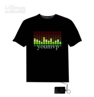 Wholesale - Flashing T Shirt Light Up Down Music Party Equal...