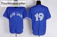 Wholesale Blue Jays Bautista Jerseys Cheap Baseball Jerseys High Quality Mens Outdoor Sports Jerseys Best Athletic Wear Hot Sale