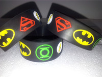 Wholesale 2014 New Superman Batman Green Lantern The flash wristband superhero silicone bracelet quot Wide The Avengers band