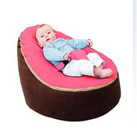 Wholesale ywxuege TOP SELL Baby Bean Bag Children Sofa Chair Cover Soft Snuggle Bed Two Top Covers and one with Harness Strap ovely pattern