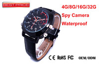 Wholesale New P HD GB GB GB Spy Watch invisible camera PC webcam Waterproof ATM P with retail box DHL