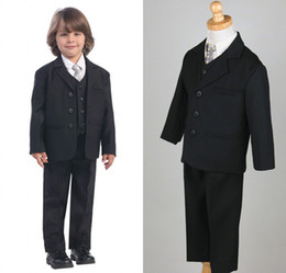Wholesale Style Boys Attire Complete Designer Tuxedos Boy Wedding Suit Groom Wear formal Dress EM00478