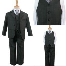 Wholesale The Flower Boy Black Dress Suit Children Show Fashion Show Children Take Suits EM00482