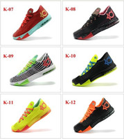 Low Cut Men PU 2014 Drop Shipping Free Shipping Wholesale 24Color Famous KD VI 6 Men's Basketball Shoes Sneaker Trainers Shoes