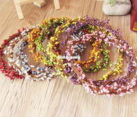 Wholesale Artificial wreath garishness DIY wedding garland halo beach floral hoop prop colors cm long bendable