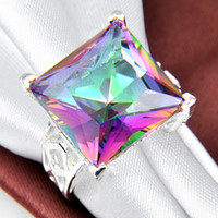 Wholesale Fashion Accessories China natural mystic topaz gemston Ring Suppliers R0489