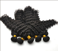 Wholesale brazilian Queen Virgin Remy Water Wave curly deep wave Natural Color Hair Weft quot quot No Shed No Tangle Hair DHL