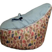 bean bags filling - ywxuege Baby Bean Bag Kids Sofa Chair Cover Infant Snuggle bed Cradle No Filling with Two Velvet Top covers Oxford waterproof fabric base