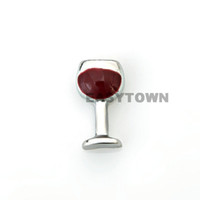 Wholesale 2014 new Design wine cup floating charms DIY charms for necklace amp bracelets charms accessories glass Locket charms