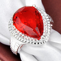 Solitaire Ring Asian & East Indian Men's Free Shipping Simple Engagement Cognac Citrine red Solitaire Ring R0487