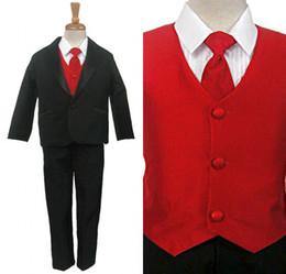 Wholesale The Flower Boy Black Dress Suit Children Show Fashion Show Children Take Suits EM00489