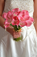 Wholesale Decorative flower artificial Mini Calla Lily pink color For Wedding decoration and bridal bouquet
