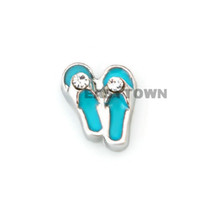 Wholesale 2014 new Design blue shoes floating charms DIY charms for necklace amp bracelets charms accessories glass Locket charms