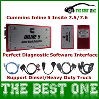 Wholesale Perfect Cummins Inline With Cummins Diagnostic Software Full Adapter For Diesel Truck Cummins Insite On Win7 V7 On XP
