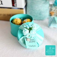 Blue tiffany box - 50Pcs AnoonWedding Love Circle Tin Favor Holders DIY Wedding Candy Boxes Style