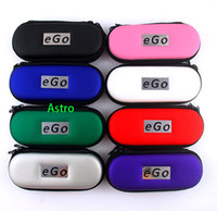Electronic Cigarette EGO Bag Red Ego Bag Ego Leather Zipper Case for ego-t ego-w ego-F electronic cigarette carry bag 10 colors L M S Size