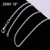 Wholesale 2014 Jewelry Sterling silver mm HipHop Rope Link Chain Necklace For men jewelry necklaces amp pendants Men s Necklace quot quot quot quot quot