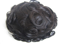 Wholesale Toupee color B R vloop thin skin human virgin hair high quality length quot men toupee