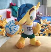 2014 Brazil World Cup Mascot Fuleco 20cm Plush Toy Baby Kids...