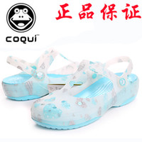 Wholesale Coqui drop card honey hole shoes women s shoes jelly slippers beach platform shoes