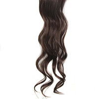 Wholesale 18inches pc Gorgeous Long Curly Wave Clips in Hair Extensions for Women s Beauty Hairsalon Wig in Fashion