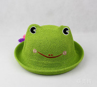 Cheap Boy animal straw hats Best Summer Crochet Hats frog straw caps