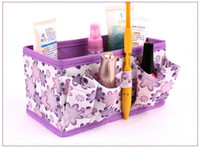 Wholesale 5pcs promotional bags women travel bag Colors Folding Make Up Cosmetic Storage Box Container Bag Case toilet bag
