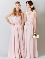Lavender Hot Pink Chiffon New Long Backless Bridesmaid Dress...