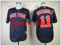 Baseball red clay - Boston Red Soxs Clay Buchholz blue Stitched jersey authentic version best quality baseball jerseys hot baseball fans apparel shirts