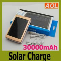 Бесплатная доставка высокое качество полной мощности 30000mah солнечной панели зарядное устройство Внешняя батарея для всех телефонов MP3 MP4 MP5 Солнечное зарядное устройство
