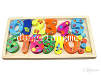 Wholesale 100pc Wooden Number Digital Game Sticks Box Educational Toy Puzzle Teaching Aids Set Materials Z14