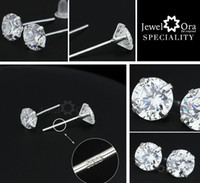 Wholesale 925 Sterling Silver Stud Earrings For Women Fashion Jewelry mm AAA Cubic Zirconia Stud Earrings AM2