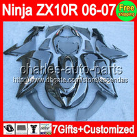 7gifts+ Customized ALL Black For KAWASAKI NINJA ZX10R 2006- 20...