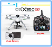 Wholesale 2014 Upgrade version WALKERA QR X350 Pro GPS Drone CH Brushless UFO DEVO F7 Transmitter RC Helicopter quadcopter For Gopro
