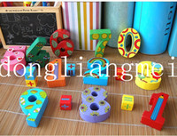 Wholesale 30pc Wooden Number Digital Game Sticks Box Educational Toy Puzzle Teaching Aids Set Materials Z14