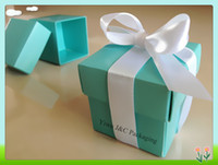 Wholesale Hot PC Tiffany Blue Wedding Favor Boxes Wedding Candy Box JCO S