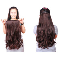 Wholesale Gorgeous Long Curly Wave Clips in Hair Extensions for Women s Beauty Hairsalon Wig in Fashion