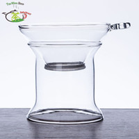 Wholesale 1PC Heat Resisting Clear Pyrex Glass Tea Coffee Funnel Filter Strainer infuser with Stand Holder Tea Coffee Tools