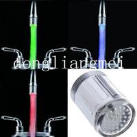 Wholesale 200pc New Fashion Color Water Glow Tap LED Faucet Light Temperature Sensor Z23