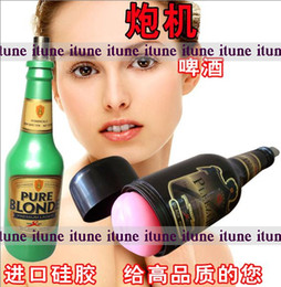 Wholesale machine gun replace attachment Vagina Anal version cup beer bottle for male sex toy machine gun masturbation medical device