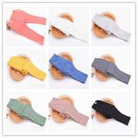 Leggings & Tights Girl Spring / Autumn Children Clothing All-Match Plaid Color Polka Dots Tights Kids Clothes Solid Colour Dot Leggings 2014 Spring Skinny Pants 9 colors D2352