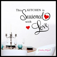 2014 New Home Decoration Kitchen Wall Stickers This Kitchen Seasoned English Proverbs wall decal Wall stickers Art Removed Wall Stickers