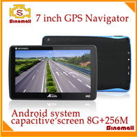 Wholesale 2014 Hot sales Android GPS Navigator M70 two point touch TFT capacitive screen G M GPS Navigation D free map