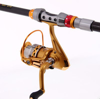 Wholesale High Quality Hot Sale Telescopic Fishing Rod m Gold Sea Rock Fishing Reel Set Outdoor Fishing Tackle Tools